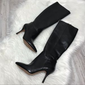 NEW Nine West Getta Black Leather Boots 8.5